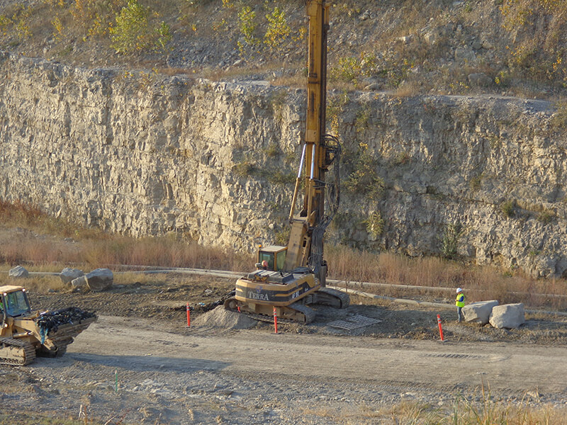 Picture of Champ Landfill installing a gas well.